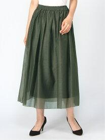 [Rakuten Fashion]Techichi/オーガンジーマキシスカート Te chichi テチチ スカート ロングスカート カーキ ネイビー ブラウン【送料無料】