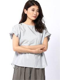 [Rakuten Fashion]【SALE/50%OFF】Lugnoncure/袖タックブラウス SS Lugnoncure テチチ シャツ/ブラウス 半袖シャツ ホワイト グリーン ネイビー【RBA_E】