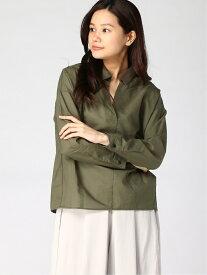 [Rakuten Fashion]【SALE/50%OFF】Lugnoncure/スキッパーシャツ Lugnoncure テチチ シャツ/ブラウス 長袖シャツ カーキ ブラック ベージュ【RBA_E】