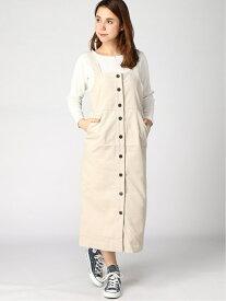 [Rakuten Fashion]Lugnoncure/細コールサロペット Lugnoncure テチチ ワンピース ノースリーブワンピース ホワイト カーキ ブラウン【送料無料】