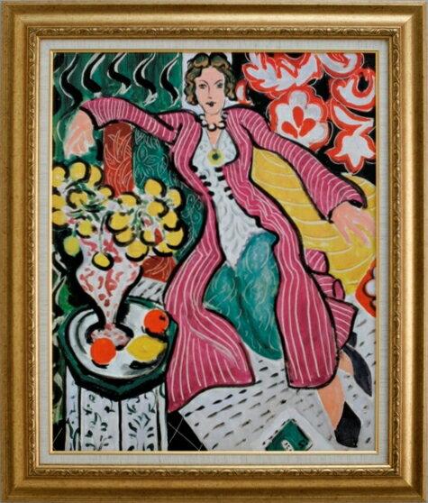 """【受注生産品】 【代引不可】 マティス 【紫色のロープの女】 [ac-1701] 世界の名画・高級複製画 """"世界の名画をマイナスイオンで癒しの空間に"""""""