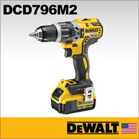 【DEWALT】(デウォルト)[DCD796M2]18Vブラシレス振動ドリルドライバー(4.0Ahバッテリー×2、充電器、キットボックス付き) 従来モデルの約20倍となる最大60ルーメンの高照度LEDライトを搭載。作業灯としても使用できます。