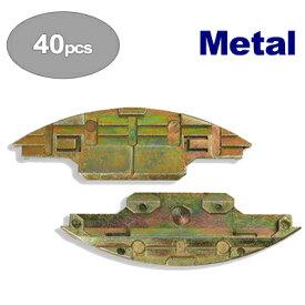 [スイス] ラメロ (Lamello) メタル Metal 40組入り ネジ83本+切込深さ調整用クリップ付 [145115]