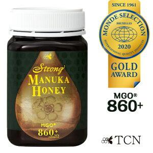 マヌカハニー モンドセレクション金賞受賞 MGO860+ 世界が認めた品質と味わい ストロングマヌカハニー 20+ 活性強度31+ マヌカ蜂蜜 500g 生はちみつ 蜂蜜 オーガニック ニュージーランド SMN31-500