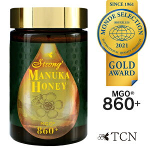 マヌカハニー MGO860+ 世界が認めた品質と味わい ストロングマヌカハニー 2020年度モンドセレクション金賞受賞 マヌカハニー 500g マヌカはちみつ はちみつ 高級 蜂蜜 ニュージーランド 送料無
