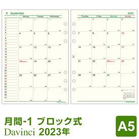 【2020年版リフィル Davinci】【メール便対象】システム手帳 リフィル 2020年版 ダ・ヴィンチ A5 月間-1 見開き両面1ヶ月 1月/4月始まり両対応 (DAR2004)