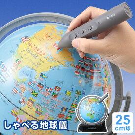 【地球儀】【送料・ラッピング無料】しゃべる地球儀 国旗付 トイ 子供用 25cm球 2019最新版モデルOYV403 誕生日のお祝いに