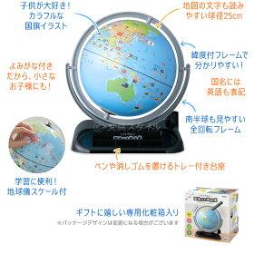しゃべる国旗付き地球儀・OYV403・ポイント