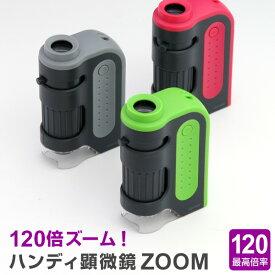 【学習用顕微鏡】自由研究に!小学生 子供用 ハンディ顕微鏡ZOOM 60〜120倍 観察ノート、ダウンロード配布中