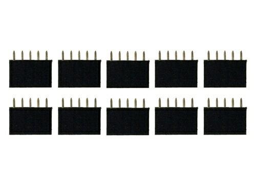 ピンヘッダー ソケット 10個セット (5ピン) 1列 角ピン 2.54mmピッチ