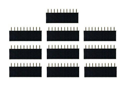 ピンヘッダー ソケット 10個セット (10ピン) 1列 角ピン 2.54mmピッチ