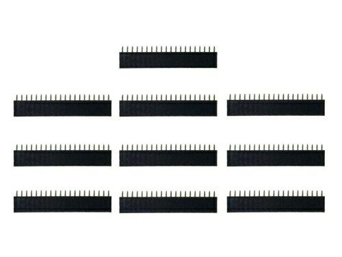ピンヘッダー ソケット 10個セット (20ピン) 1列 角ピン 2.54mmピッチ