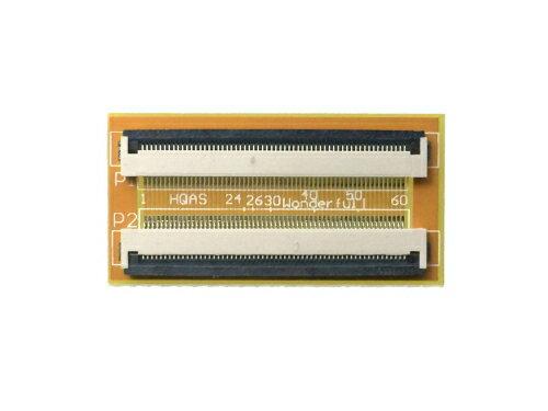 FPC/FFC (60ピン) フラットケーブル 延長基盤 0.5mmピッチ フラットケーブルの延長用に