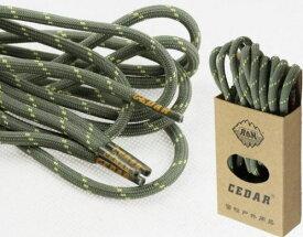 [CEDAR] 高強度 ショートブーツ用靴紐 登山ブーツ用 シューレース 1.5m ペア 2本セット [並行輸入品] (イエロードット・グリーン)