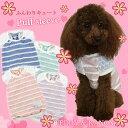 【犬 服】春 夏 【日本製】パフスリーブ ボーダー Tシャツ ドッグウェア 夏のエアコン冷え対策にも!【チワワ・ダックス・プードル 小…
