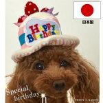 犬誕生日ケーキ帽子日本製バースデーハット小型犬中型犬大型犬誕生日プレゼント