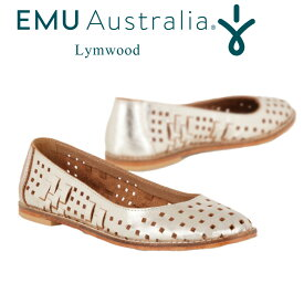 EMU フラットシューズ Lymwood レディース 春夏 メッシュ 通気性あり 本革 軽量 無地 ワンカラー (8)25cm W11478