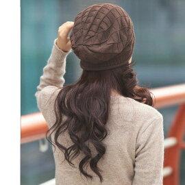 ニット帽レディース防寒コーディネートかわいい帽子女性用暖かい女の子大人キャップシンプル秋冬ゆったりコーデ小顔効果プレゼント贈り物にも◎着こなしおしゃれ4colorsブラックブラウングレーベージュ