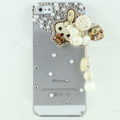 iPhone SE iPhone5 iPhone5s iPhone4 iPhone4s ケース アイフォン SE アイフォン5s アイフォン5 アイホン5s アイフォン4s アイフォン4 スマホカバー ウサギ デコ ラインストーン ハード 可愛い お洒落 iPhoneケース