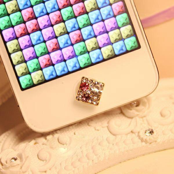 デコ ラインスートン ホームボタンiPhone6 plus ipad mini3 air2 iphone シール iPhone5 iPhone4 iphone4s ホームボタンシール アイフォンxperia iphone5s iPod touchアイホン6 アイパッド メタルホーム galaxy note3 s5 iphone5c mini キラキラ