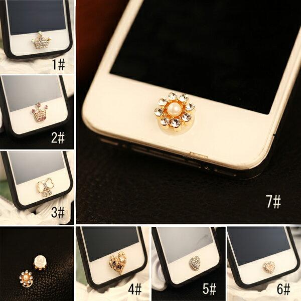デコ パール ホームボタンiPhone6 plus ipad mini3 air2 iphone シール iPhone5 iPhone4 iphone4s ホームボタンシール シールボタン アイフォンxperia iphone5s iPod touchアイホン6 アイパッド メタルホーム galaxy note3 s5 iphone5c mini キラキラ