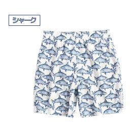 水着ショートパンツ1点男の子子供キッズジュニアポケット付き裏地付き男児用UV対策日焼け対策水遊びプール海川アウトドア動きやすいおしゃれかわいい魚柄お魚サーフボードサメ総柄プリントカジュアル100cm110cm120cm130cm140cm150cm小学生