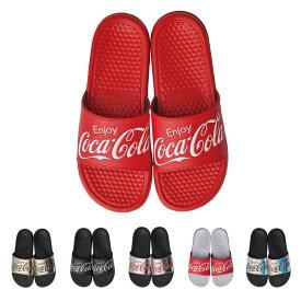 コカ・コーラ Coca-Cola シャワーサンダル メンズ レディース ユニセックス 男女兼用 かわいい おしゃれ ロゴ つっかけ 無地 シンプル 夏 海 プール リゾート カップル ペアルック コーデ 大きいサイズ レッド ゴールド ブラック シルバー ホワイト オーロラ ビーチグッズ