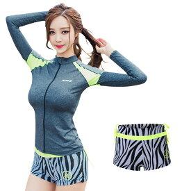 水着 レディース ショートパンツ 単品 韓国 ファッション SHEBEACH RIPPLE ZEBRA SHORTS シービーチ 正規品 かわいい S M L 7号 9号 11号 女性 安全 海 ジム 体型カバー ショーツ パンツ UPF50+ 紫外線対策 ロゴ入り