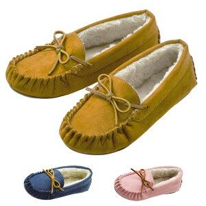 モカシン キッズ ジュニア 靴 子供用 女の子 小学生 カジュアル シューズ パンプス スリッポン 軽量 フラットシューズ あったかい ファー 内ボア リボン おしゃれ かわいい もこもこ ガーリ