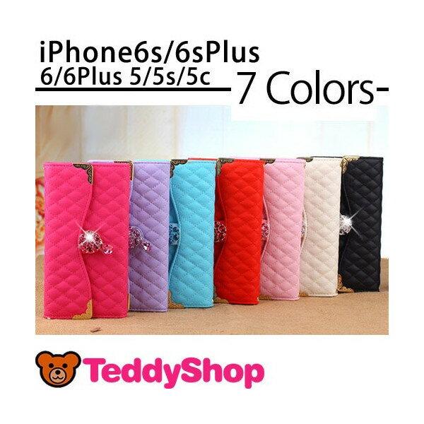 iPhone6s iPhone6s Plus iPhone6 iPhone6 Plus iPhone SE iPhone5s iPhone5 iPhone5c 手帳型ケース アイフォン6sプラス アイフォン6 アイフォンSE アイフォン5s アイホン6s スマートフォン スマホカバー 長財布型 ストーン 定期入れ ダイアリー型