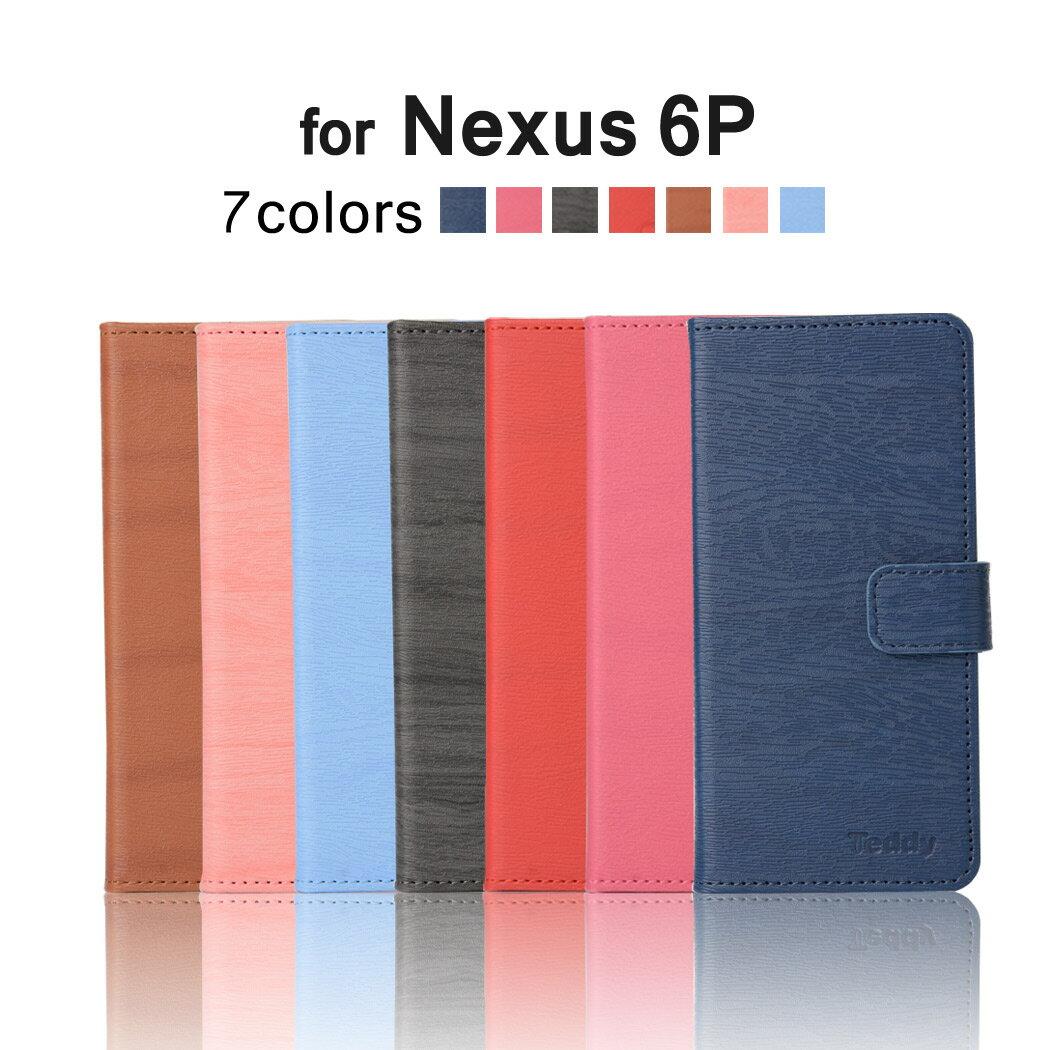 Nexus6p ケース Nexus6p カバー Nexus6P対応 木目調 手帳型ケース レザー ネクサス6p カバー Nexus 6P 携帯ケース Nexus6P手帳ケース Nexus6pスマホケース 横開き カード収納 スタンド機能 人気 おしゃれ ウッドパターン Nexus 6pカバー