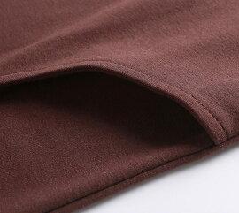 ロングTシャツレディース春秋冬裏起毛無地長袖細身クルーネックコットン全3色ブラックネイビーレッドSサイズMサイズLサイズXLサイズ