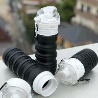 水筒コンパクトスリム畳めるマイボトルAQUA_hack
