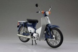 アオシマ 完成品バイク No.10566 1/12 Honda スーパーカブ50 ブルー