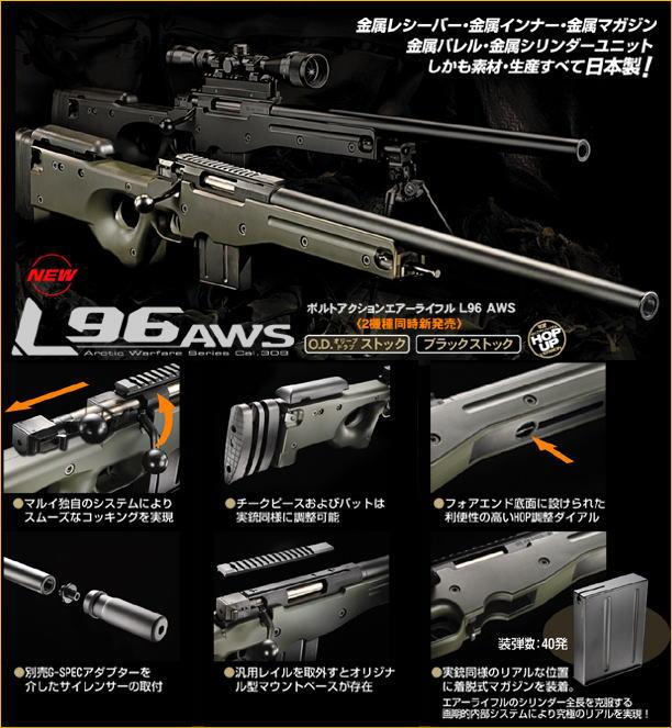 東京マルイ L96 AWS ブラック ボルトアクションエアーライフル (18歳未満の方は購入できません)