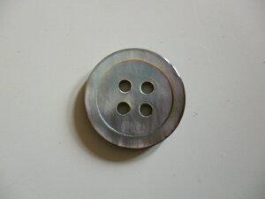 黒蝶貝 S-30024つ穴シャツボタン 18mm