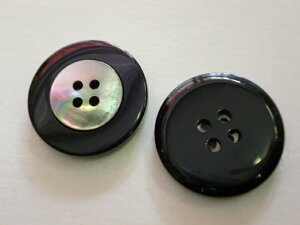S3165 スーツ用ボタン 25mm 黒 青