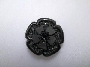 高級黒ボタン M48/27101 25mm