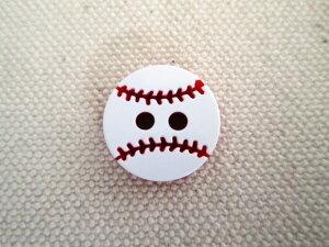 サッカー・野球のボールをモチーフにしたボタン 13mm