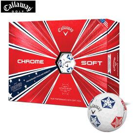 キャロウェイ クロムソフト トゥルービス Stars and Stripes 2019 CHROME SOFT TRUVIS ゴルフ ボール