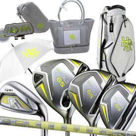 本間ゴルフ ホンマ T//WORLD GS LA レディース DR FW UT IR #7-10SW #11 キャディバッグ ティーオリーヴオリジナルセット