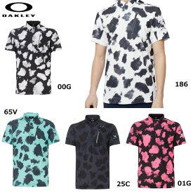 オークリー 半袖シャツ SKULL MOTTELE SHIRTS 434390JP OAKLEY メンズ スカル ドライ グラフィック ゴルフ ポロシャツ 2019年モデル
