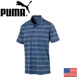 【2017年モデル】PUMA572350POUNCESTRIPEGOLFPOLO(US)プーマパウンスストライプゴルフ半袖ポロ