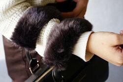 ファーバッグ持ち手カバー「FURT」【上質な日本製ファーハンドルショルダーチャームアクセサリーバック2017ビジネスシンプルベージュチャコールグレー】