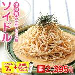 【送料無料】【大豆100%麺】【低糖質めんつゆ600ml】ソイドルセット