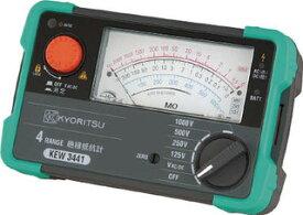 共立電気計器 KEW3441絶縁抵抗計 125V 250V 500V 1000V 『3441共立』 KYORITSU