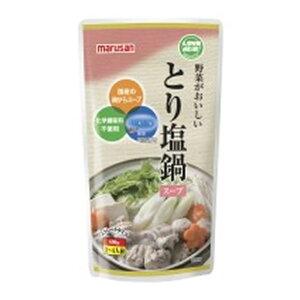マルサン とり塩鍋スープ600g /化学調味料不使用 鶏鍋 鍋の素