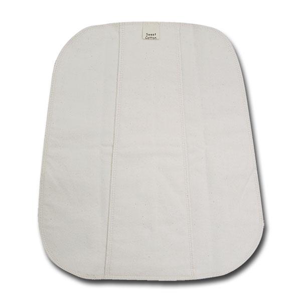 すぃーとこっとん プレーン 〔ナイト〕 きなり【メール便可】/多い日用 夜用 布ナプキン 32cm