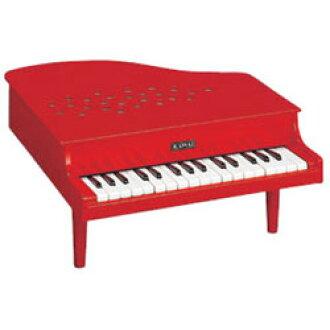 河合乐器制造 1115年迷你钢琴 p-32 (红色) (声音,扮演) 木制玩具