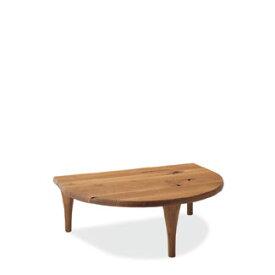 飛騨産業 森のことばシリーズ 半円形リビングテーブル SN105T キツツキマーク 【代引対象外】